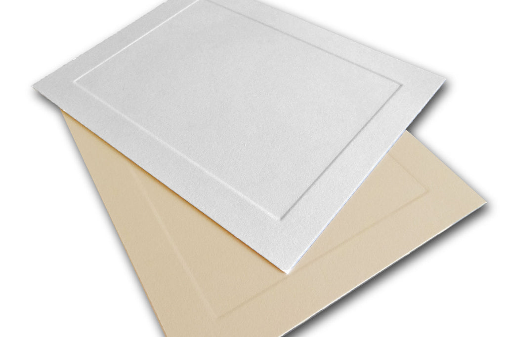 ivory embossed panel a2 cards - Invitation Card Stock