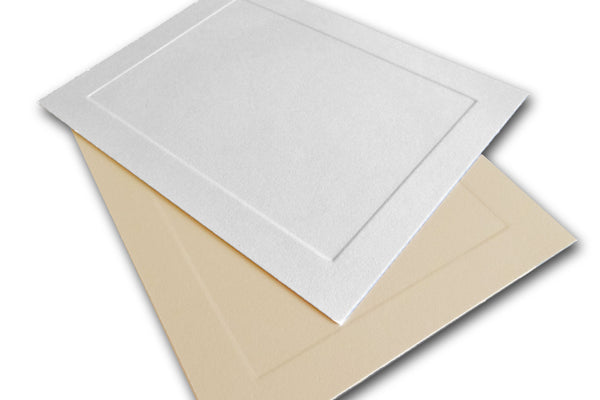Leader Opaque Embossed Panel A6 Flat Card Invitations - 250 invites