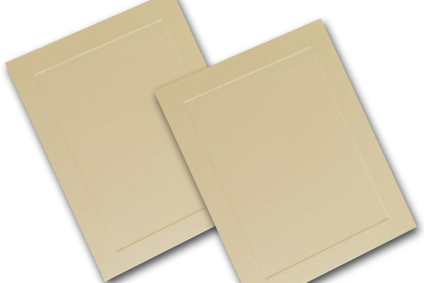 Ivory Embossed Panel A2 cards