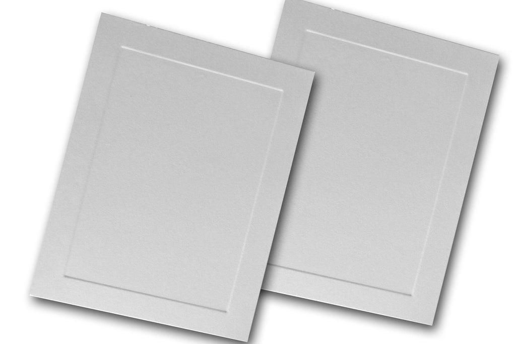 Leader opaque embossed panel a 2 flat cards 250 pk cutcardstock blank invitation paper flat embossed cards stopboris