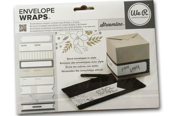 We R Memory Keepers Streamline Envelope Wraps - 18 labels