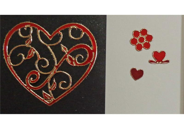 Ornamental Heart Stickers