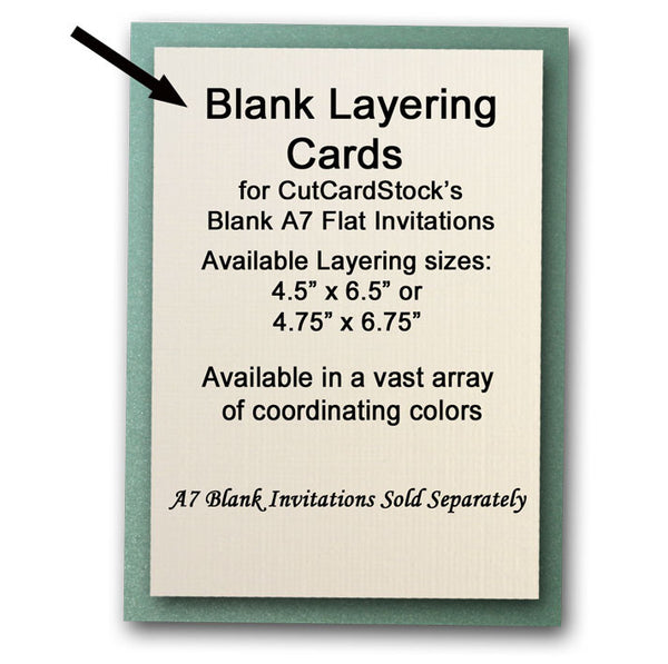a7 flat cards for diy invitations and announcements