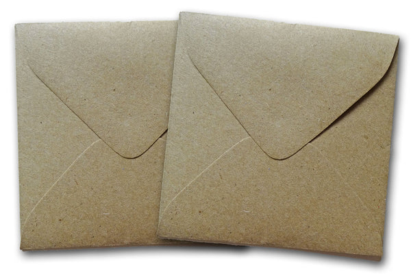 mini square kraft envelopes
