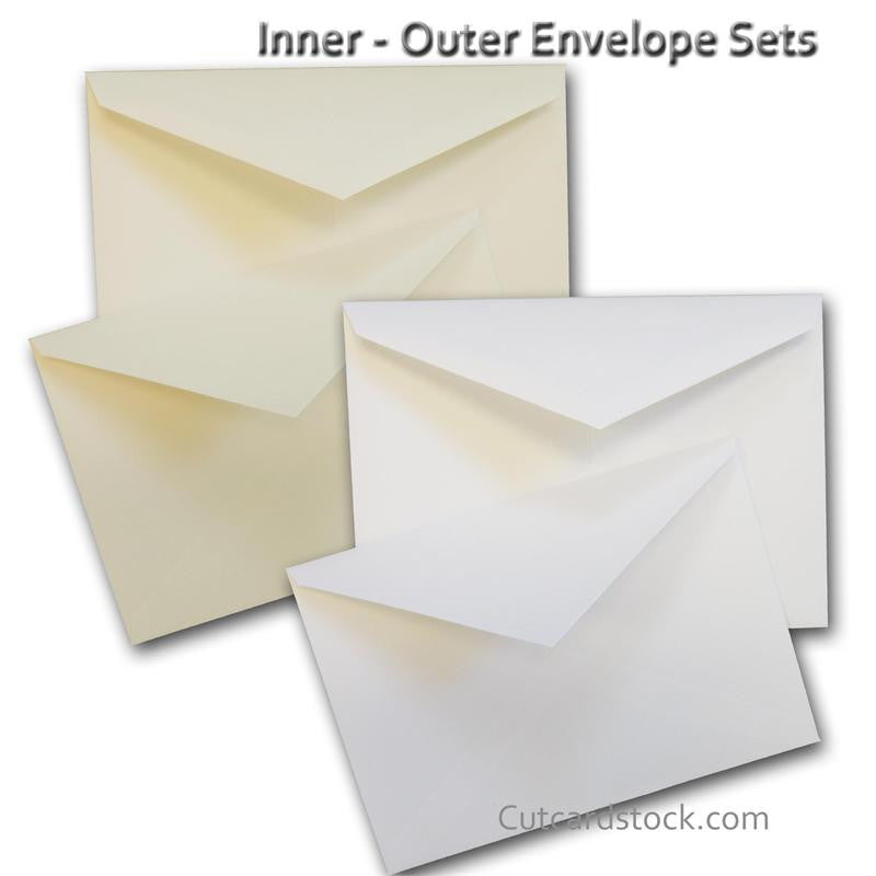 cougar a7 inner outer envelope sets for 5x7 invitations