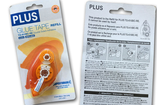 Plus TG-611BC-RE Orange Repositionable Adhesive REFILL
