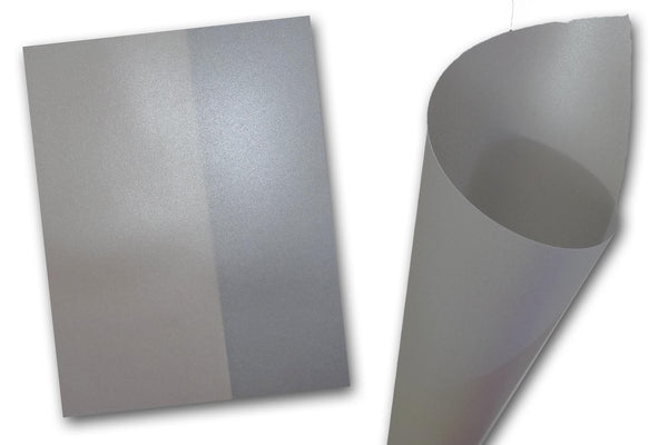 Curious Translucent Iridescent Silver Card Stock
