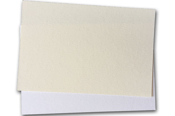 Teton Felt Warm White 4x6 Discount Card Stock - NO Deckle edge - 25 pack - Overstock