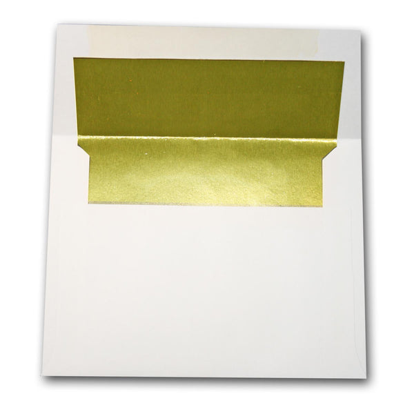 White-GOLD Foil lined Envelopes