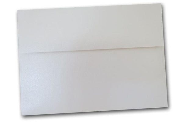 Linen White Pearl Envelopes