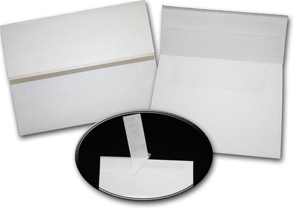 Leader WHITE Wove ZIP STICK A7 Envelopes 50 pack - Buy Cardstock