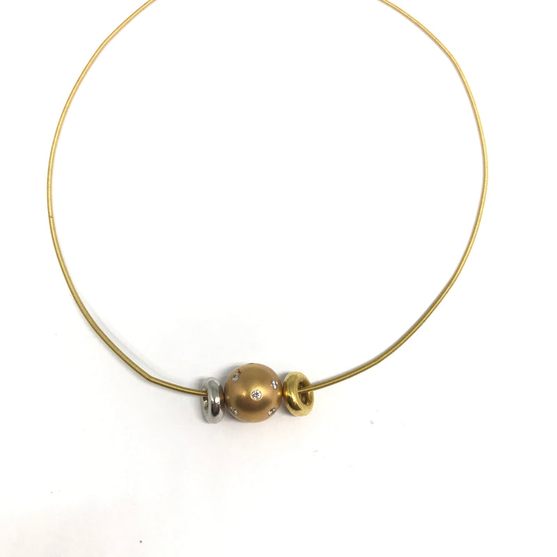 18K YELLOW GOLD COIL NECKLACE