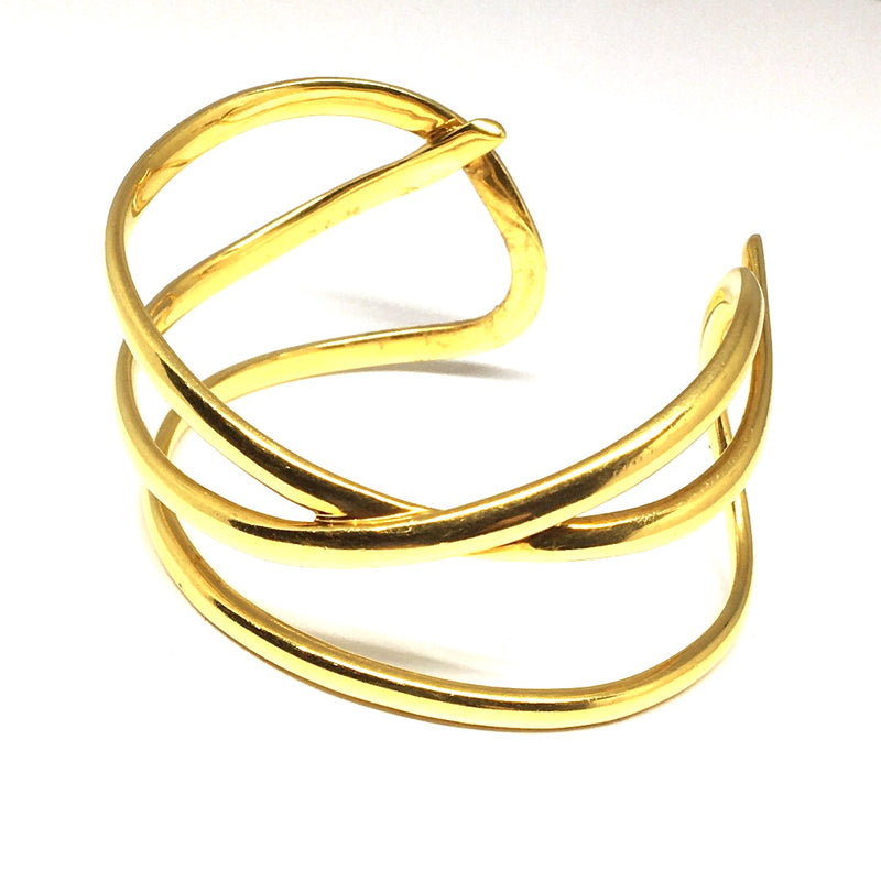 TIFFANY & CO. PALOMA PICASSO DESIGN YELLOW GOLD CUFF