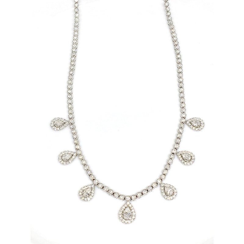 7 PEAR SHAPED DIAMOND NECKLACE