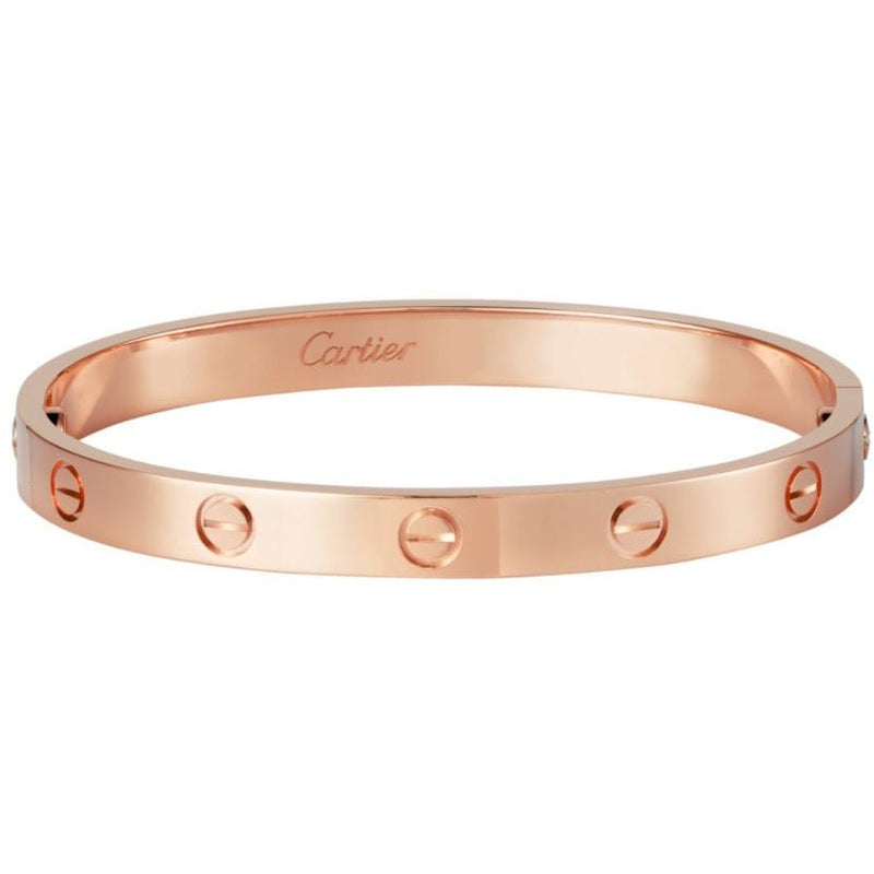 CARTIER ROSE GOLD LOVE BRACELET 17