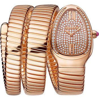 BULGARI 18K ROSE GOLD SERPENTI WATCH