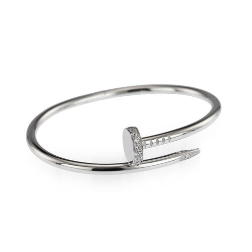 CARTIER JUSTE UN CLOU BRACELET WHITE GOLD WITH DIAMOND