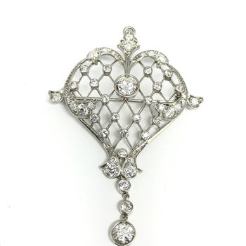 VINTAGE DIAMOND PENDANT-PIN