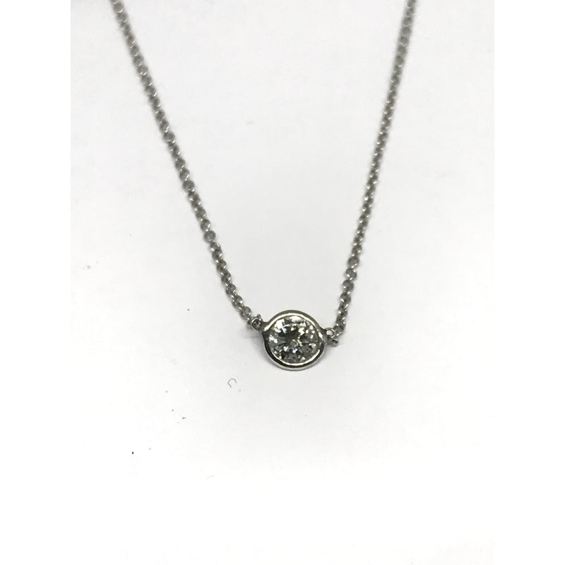 PLATINUM .25 CT DIAMOND PENDANT