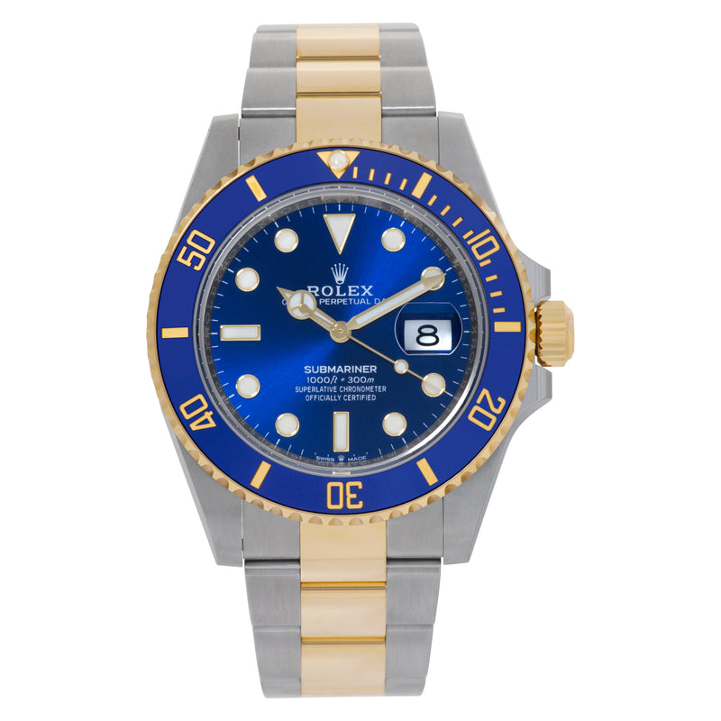 ROLEX SUBMARINER TWO TONE BLUE DIAL 41MM UNWORN 2021