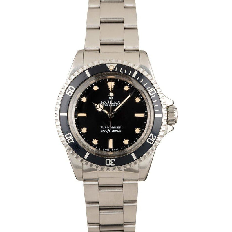ROLEX VINTAGE SUBMARINER NO DATE REFERENCE 5513