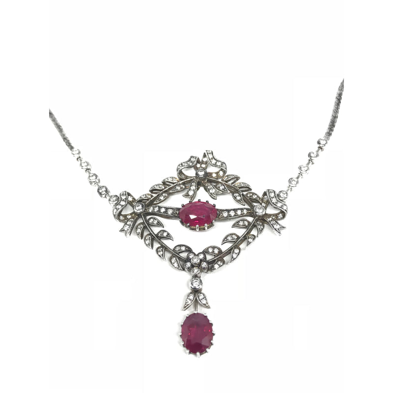 RUBY AND DIAMOND NECKLACE (4.23 CT)