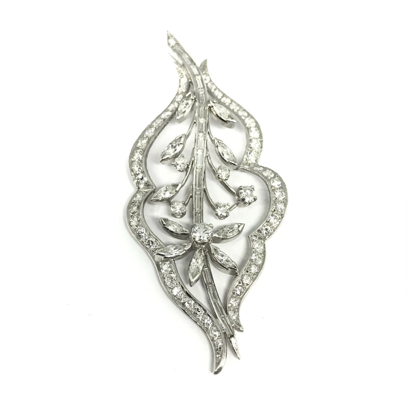 VINTAGE LEAF DIAMOND PENDANT