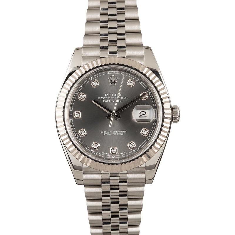 ROLEX DATEJUST II 41MM RHODIUM DIAL