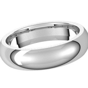 5MM PLATINUM BAND SIZE 10