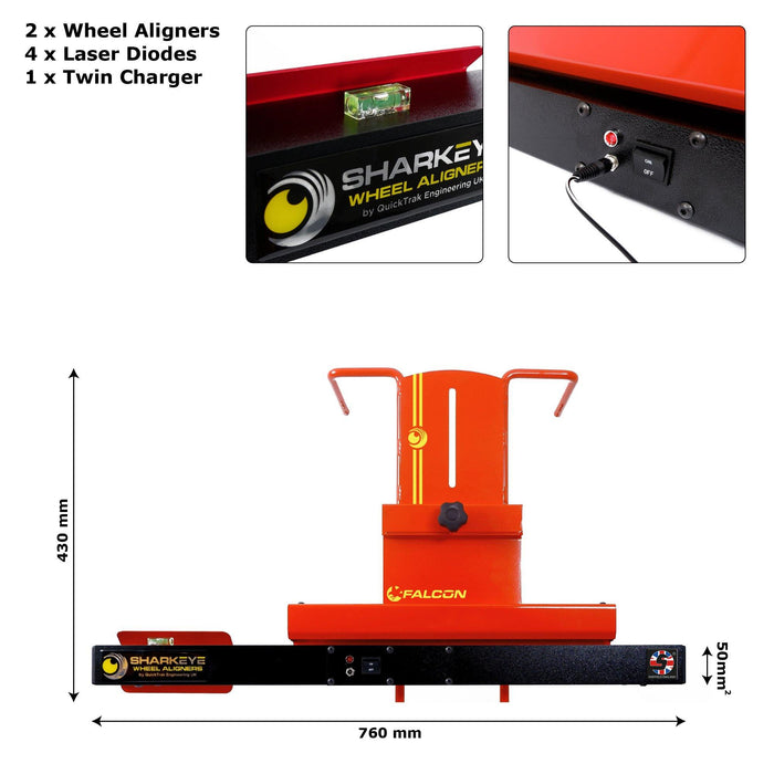 SharkEye Falcon LC4WLA - Laser 4 Wheel Aligner. Car & Van