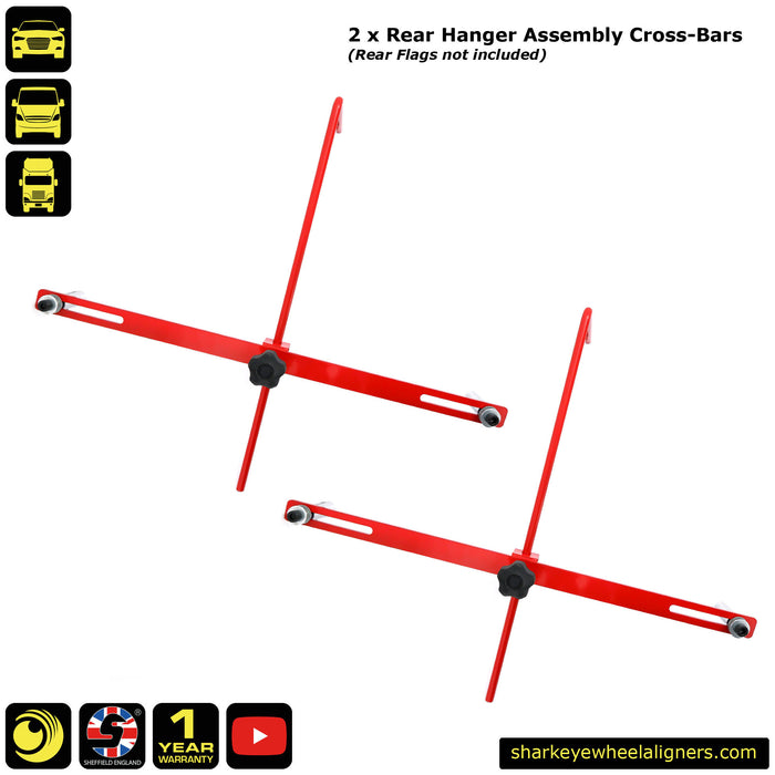 2 x Rear Hanger Assembly Cross-Bars