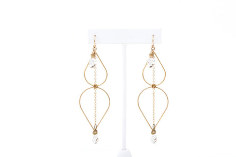 Cabo Gold Sundance Earrings-Jewelry-Crystal Dawn Swim