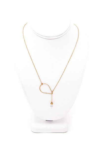 Corsica Gold Lariat Necklace-Jewelry-Crystal Dawn Swim