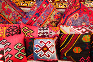Turkish pillow covers and rugs