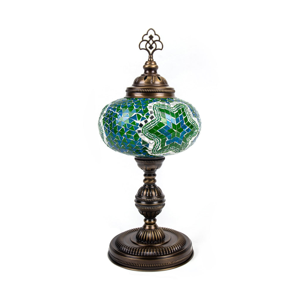 Antique Turkish Mosaic Table Lamp - No.5 Size