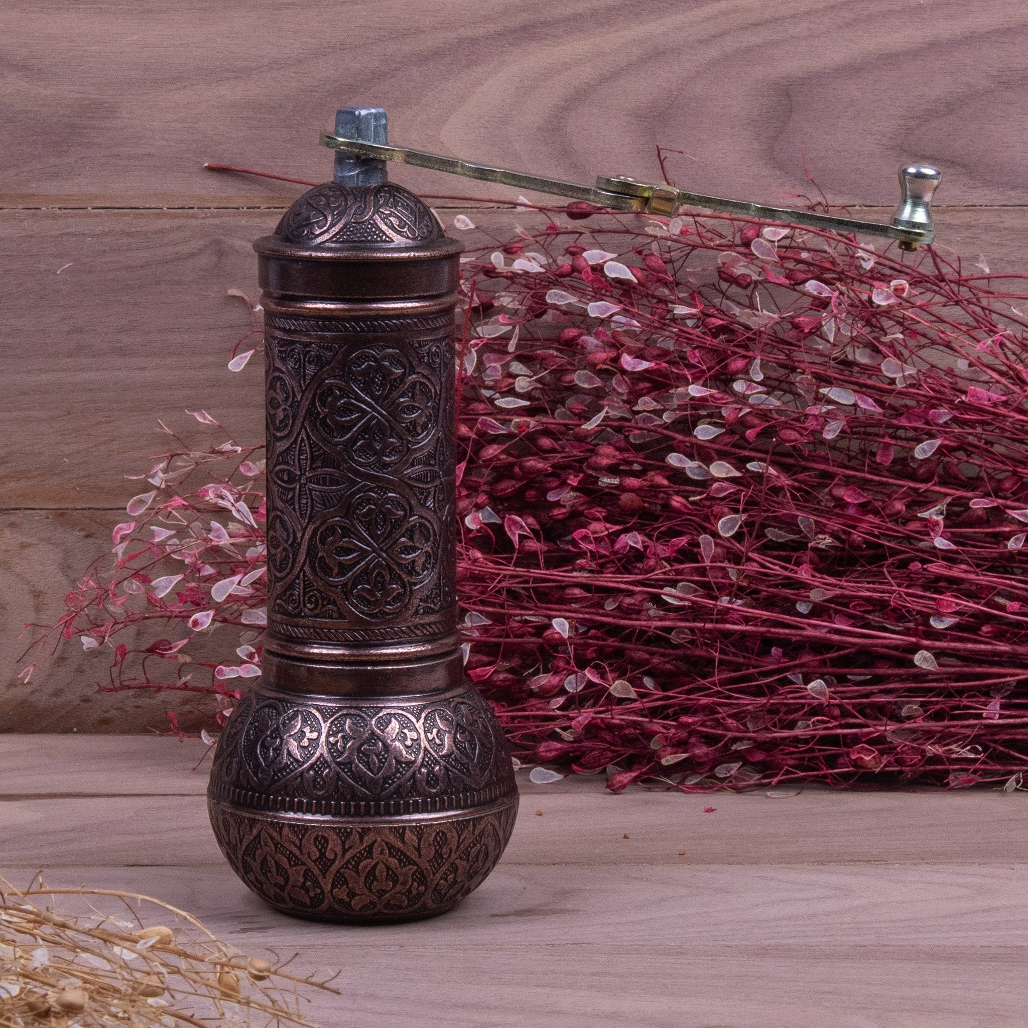 Authentic Copper Turkish Grinder-4