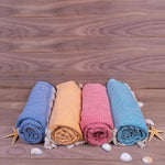 Load image into Gallery viewer, Turkish Towel, Diamond Design Peshtemal Set With Background