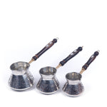 Load image into Gallery viewer, Engraved Copper Turkish Coffee Pot Set Of Three-1