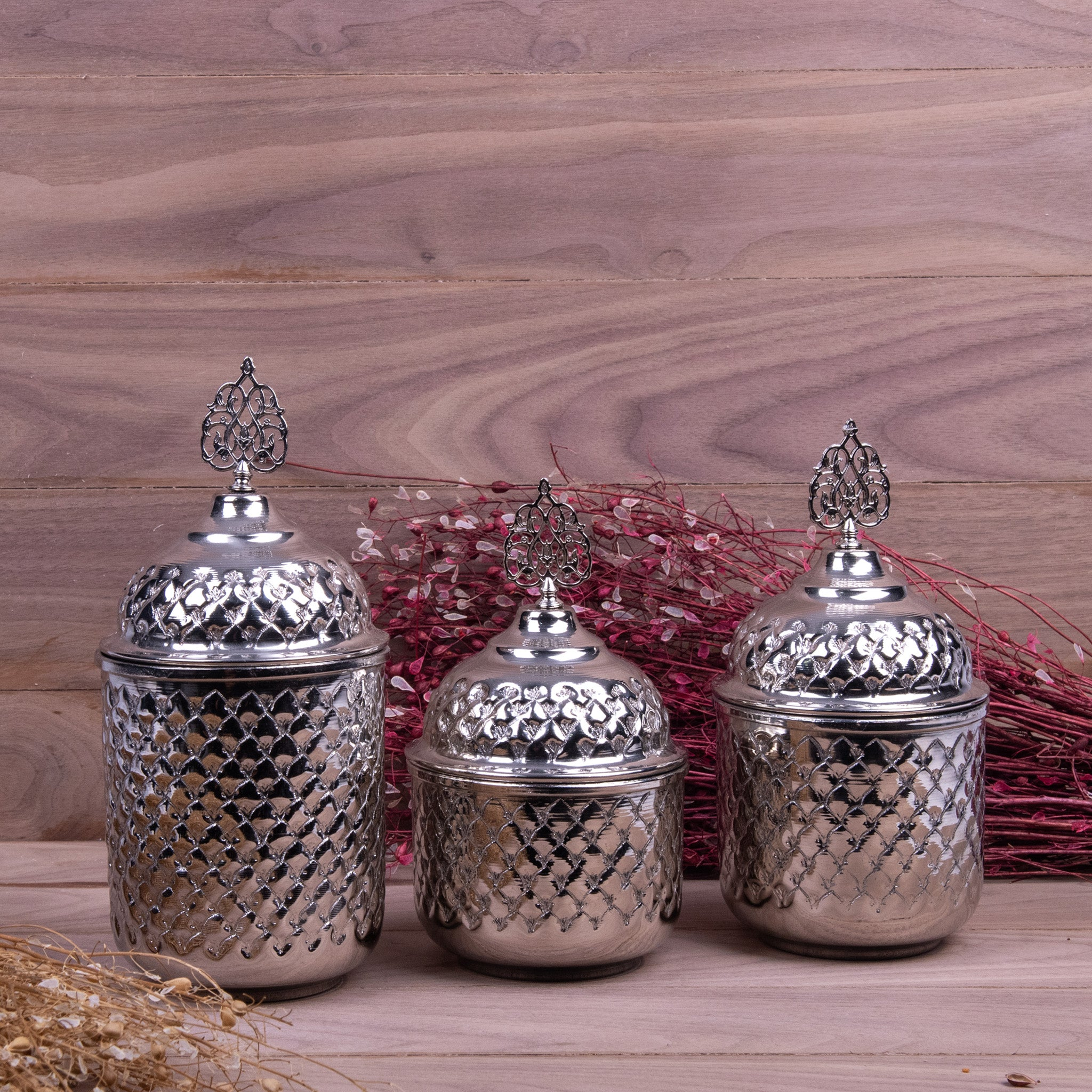 Engraved Handmade Copper Spice Set_
