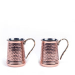Load image into Gallery viewer, Hammered Copper Mug Set Of Two-1