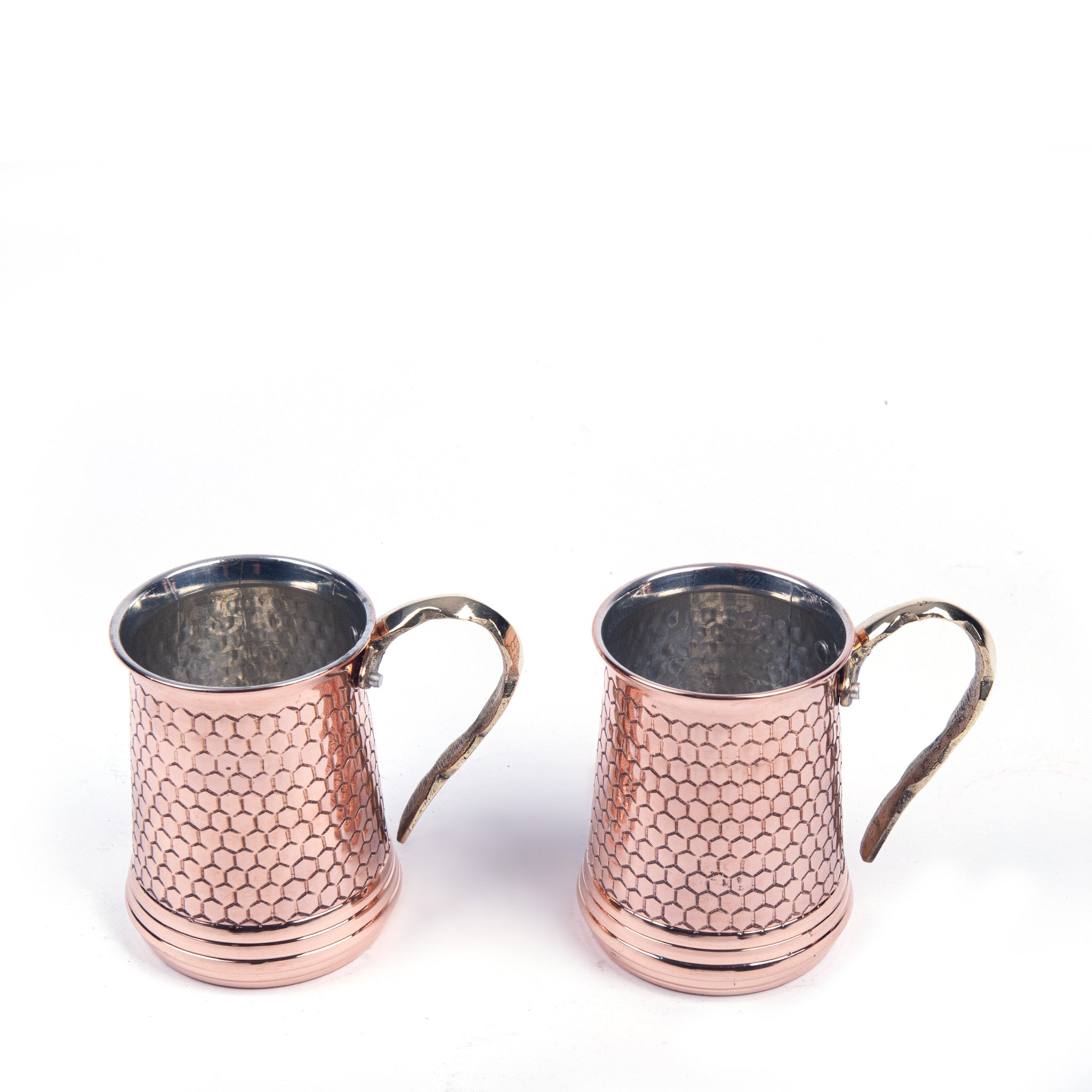 Hammered Copper Mug Set Of Two-2