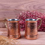 Load image into Gallery viewer, Hammered Copper Mug Set Of Two-3