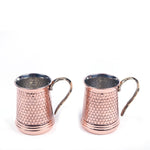 Load image into Gallery viewer, Hammered Copper Mug Set Of Two