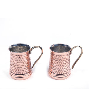 Hammered Copper Mug Set Of Two