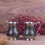 Load image into Gallery viewer, Heavy Engraved Oriental Copper Mug Set Of Two-2
