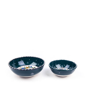 Turkish Ceramic Iznik Design Handmade Bowl Set Of Two-2