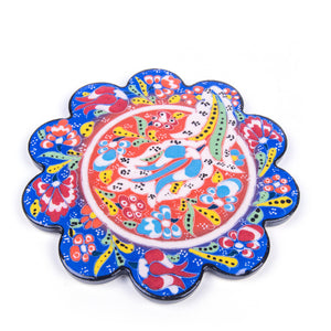 Turkish Ceramic Iznik Design Handmade Embossed Coaster-4