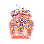 Load image into Gallery viewer, Turkish Ceramic Iznik Design Handmade Embossed Wall Decor Evil Eye-1