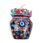 Load image into Gallery viewer, Turkish Ceramic Iznik Design Handmade Embossed Wall Decor Evil Eye-2