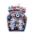 Load image into Gallery viewer, Turkish Ceramic Iznik Design Handmade Embossed Wall Decor Evil Eye-3